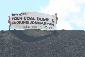 Samuel Robb and Bradley Smith on the coal dump